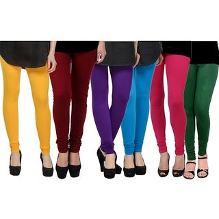 Rummy Cotton Lycra Leggings (Pack of 6) CL6MULTI0605