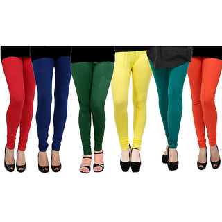 Rummy Cotton Lycra Leggings (Pack of 6) CL6MULTI0603
