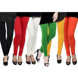 Rummy Cotton Lycra Leggings (Pack of 6) CL6MULTI0617