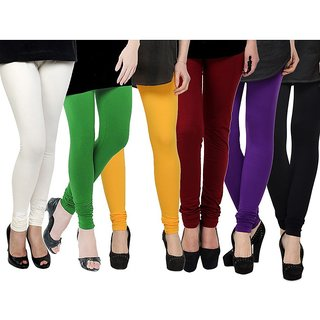 Rummy Cotton Lycra Leggings (Pack of 6) CL6MULTI0630