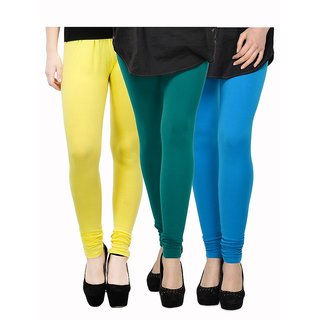 Rummy Cotton Lycra Leggings (Pack of 3) CL3MULTI0051