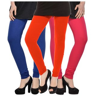 Rummy Cotton Lycra Leggings (Pack of 3) CL3MULTI0423