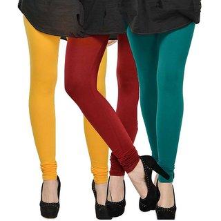 Rummy Cotton Lycra Leggings (Pack of 3) CL3MULTI0337