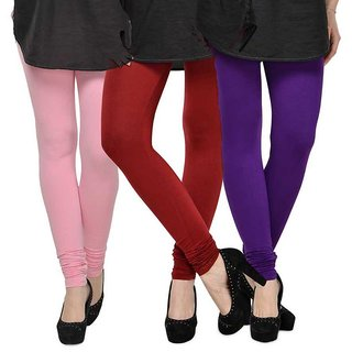 Rummy Cotton Lycra Leggings (Pack of 3) CL3MULTI0364