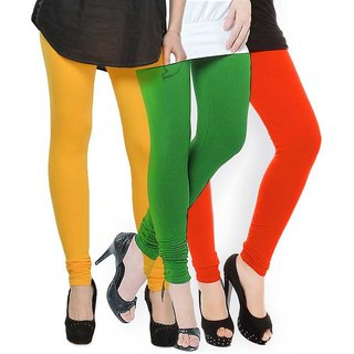 Rummy Cotton Lycra Leggings (Pack of 3) CL3MULTI0234