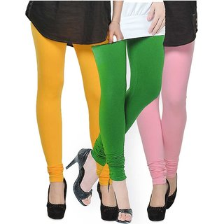 Rummy Cotton Lycra Leggings (Pack of 3) CL3MULTI0266