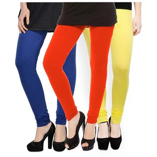 Rummy Cotton Lycra Leggings (Pack of 3) CL3MULTI0304