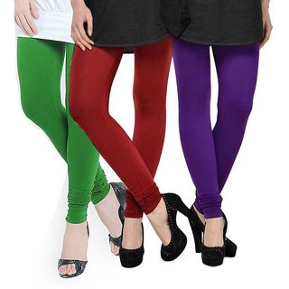 Rummy Cotton Lycra Leggings (Pack of 3) CL3MULTI0285