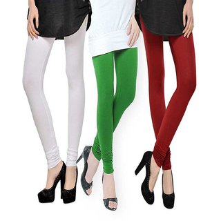 Rummy Cotton Lycra Leggings (Pack of 3) CL3MULTI0281