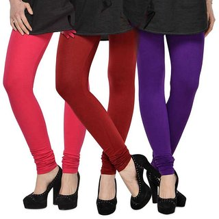 Rummy Cotton Lycra Leggings (Pack of 3) CL3MULTI0363
