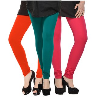Rummy Cotton Lycra Leggings (Pack of 3) CL3MULTI0435