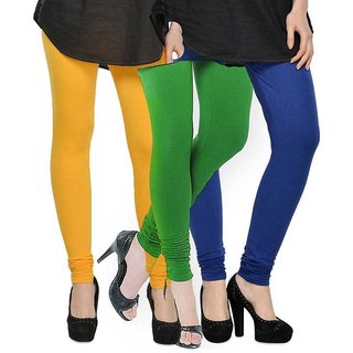 Rummy Cotton Lycra Leggings (Pack of 3) CL3MULTI0295
