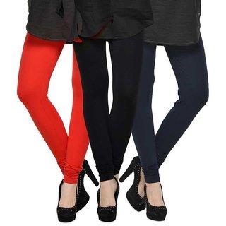 Rummy Cotton Lycra Leggings (Pack of 3) CL3MULTI0075