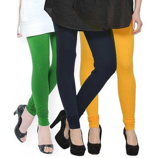 Rummy Cotton Lycra Leggings (Pack of 3) CL3MULTI0368