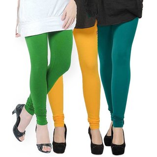 Rummy Cotton Lycra Leggings (Pack of 3) CL3MULTI0282
