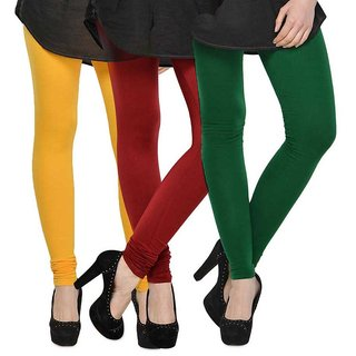 Rummy Cotton Lycra Leggings (Pack of 3) CL3MULTI0236