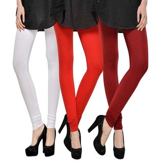 Rummy Cotton Lycra Leggings (Pack of 3) CL3MULTI0265