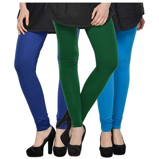 Rummy Cotton Lycra Leggings (Pack of 3) CL3MULTI0338