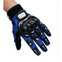 Probiker Motorcycle Bike Racing Riding Gloves Glove Blue Colour Pro-biker-LARGE