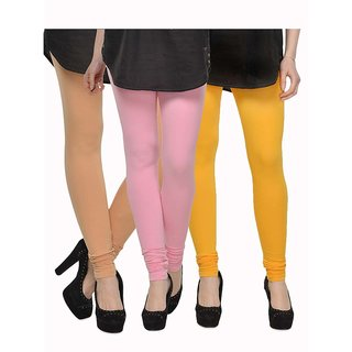 Rummy Cotton Lycra Leggings (Pack of 3) CL3MULTI0493