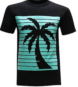California Republic Turquoise Palm Mens T-Shirt