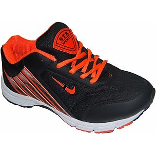 Stalker Boys Running Sports Shoes (Black)