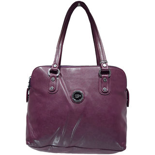 Moochies Ladies Leatherette Purse Colour Dark Purple
