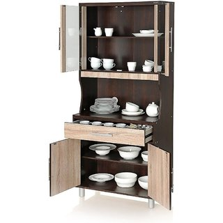 Oak Crockery Cabinet (Brown)