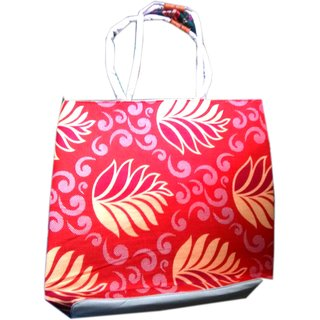 Janvi Pawar Garments Shopping Bag Foam Red Printed Bag