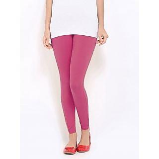 Jelite Womens Leggings-Ankle Length-Pink