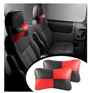 TAKECARE  Designer Car Seat Neck Cushion Pillow - Black and Red Colour  MAHINDRA XUV 500 OLD 2010-2014