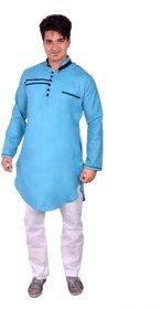 Arzaan Creations Deep Sky Designer Kurta With White Payjama Set
