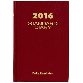 Diary 2016, Daily Diary, 5.75 x 8.25 Inches, Red