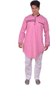 Arzaan Creations Pink Designer Kurta With White Payjama