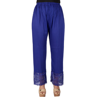 Ayesha Creations Blue Womens Palazzo-ACRYPL-Blue