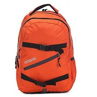 American Tourister Orange Casual Polyester Backpack
