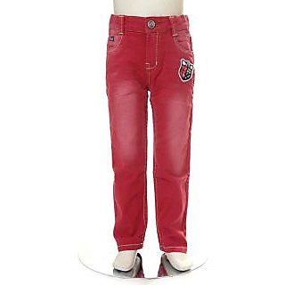 Tales & Stories Stylish Red Faded 5 Pocket Trouser (2-8)