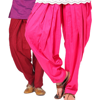 Brandtrendz Set Of 2 Cotton Patiyala Salwar (SsalwarMrnnRani)