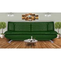 DOLPHIN ELITE MODULAR SOFA CUM BED 3- SEATER-(LEATHERRETE) -B.GREEN