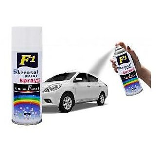 F1 AEROSOL SPRAY PAINT WHITE FOR MULTIPURPOSE(CAR,BIKE,CYCLE,ETC.)