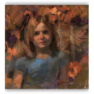 Vitalwalls Portrait Painting Canvas Art Print,on Wooden FrameWestern-302-F-45cm