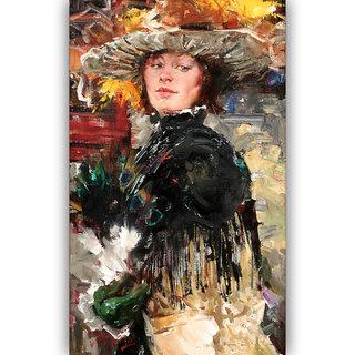 Vitalwalls Portrait Painting Canvas Art Print.Western-386-45cm