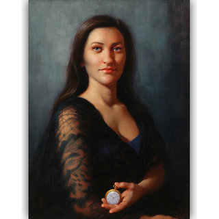 Vitalwalls Portrait Painting Canvas Art Print,on Wooden FrameWestern-495-F-60cm