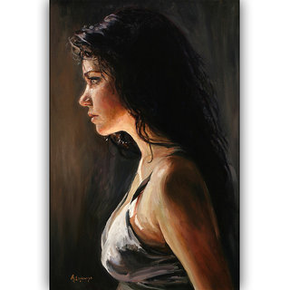 Vitalwalls Portrait Painting Canvas Art Print,on Wooden FrameWestern-497-F-30cm