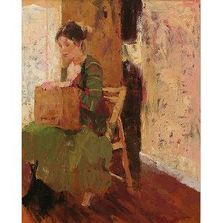 Vitalwalls Portrait Painting Canvas Art Print.Western-498-30cm