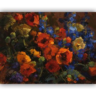 Vitalwalls Still Life Painting Canvas Art Print,Wooden Frame.Static-232-F-45cm
