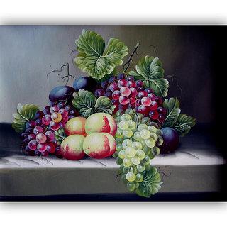 Vitalwalls Still Life Painting Canvas Art Print,Wooden Frame.Static-284-F-30cm