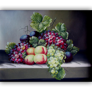 Vitalwalls Still Life Painting Canvas Art Print,Wooden Frame.Static-284-F-60cm