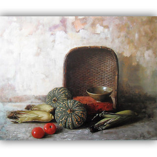 Vitalwalls Still Life Painting Canvas Art Print,Wooden Frame.Static-288-F-60cm