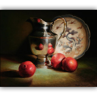 Vitalwalls Still Life Painting  Canvas Art Print.Static-396-30cm